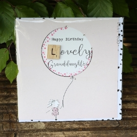 Lovely Granddaughter Scrabble Birthday Card