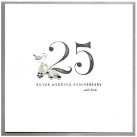 Anniversary Card   25th (Silver)