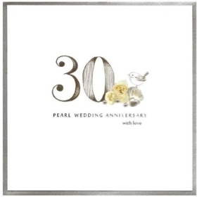 Anniversary Card   30th (Pearl)