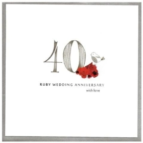 Anniversary Card 40th (Ruby)