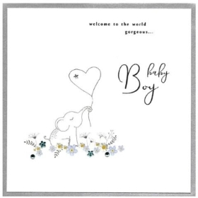 Gorgeous Baby Boy card, Elephant