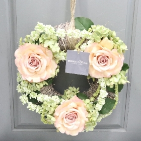 Amaranthus & Rose Faux Wreath