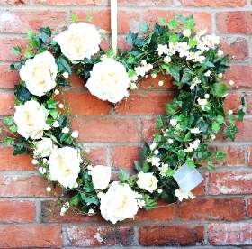 Buttermilk Roses Wreath